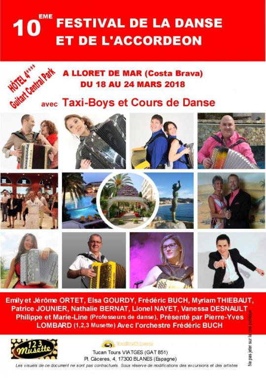 Archive : 10eme Festival de la Danse et de l'Accordéon (Lloret de Mar - mars 2018)