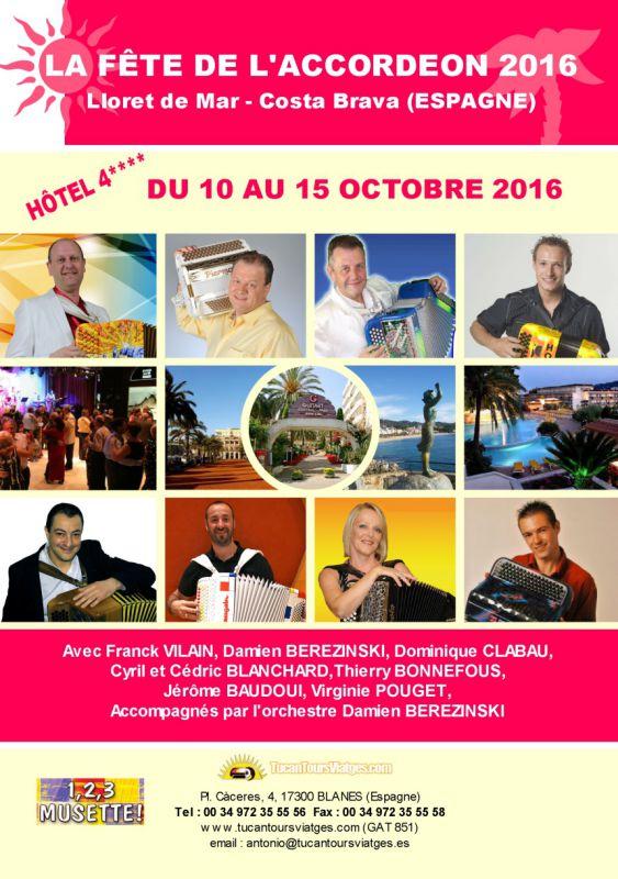 Archive : La Fête de l'Accordéon 2016 (Lloret de mar - octobre 2016)