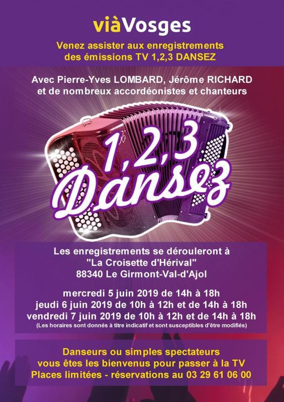 Venez assister aux enregistrements des émissions 1,2,3 Dansez