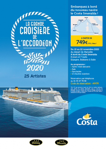 Brochure La Grande Croisière de l'Accordéon 2020